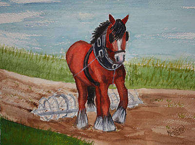 Painting - Earning My Oats  by Kimber  Butler