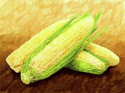 Digital Art - Ears Of Corn by Ric Darrell