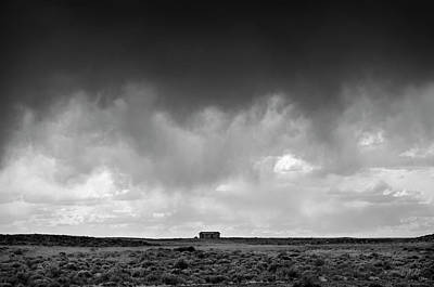 Photograph - Earth And Clouds New Mexico II Bw by Dave Gordon