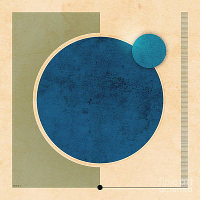 Earth And Moon Graphic Art Print by Phil Perkins