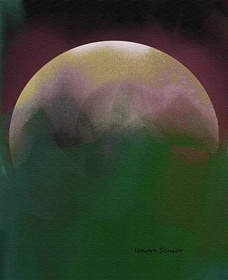Earth And Moon Art Print