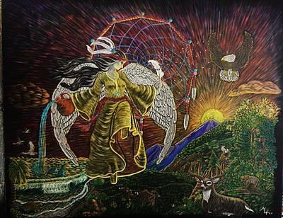 Earth Angel Sun Rise Art Print by Emily Kolar