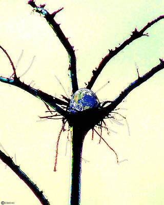 Digital Art - Earth As Egg by Lizi Beard-Ward