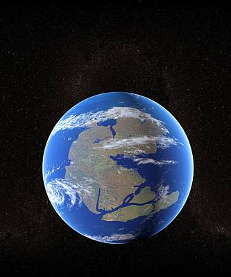 Triassic Photograph - Earth At Time Of Pangea by Christian Darkin