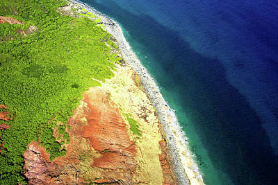 Earth Below, Na Pali Coast, Kauai Hawaii Art Print