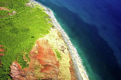 Photograph - Earth Below, Na Pali Coast, Kauai Hawaii by Michael Bessler