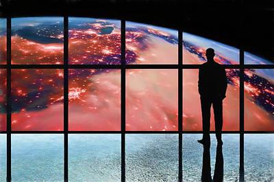 Digital Art - Earth Burns by John Haldane