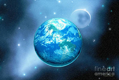 Earth Art Print by Corey Ford