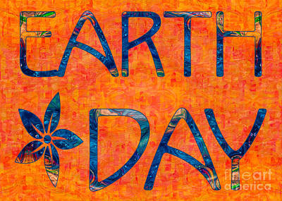 Drawing - Earth Day Imagination Abstract Greeting Card Art By Omaste Witko by Omaste Witkowski