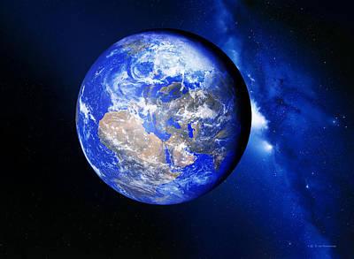 Earth Art Print by Detlev Van Ravenswaay