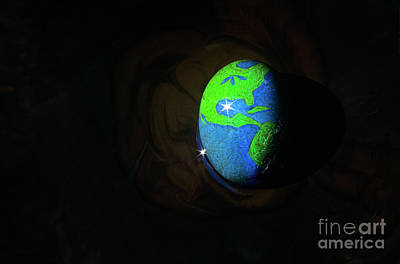 Photograph - Earth Egg In Oil Slick by Jim Corwin