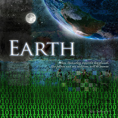 Digital Art - Earth by Evie Cook