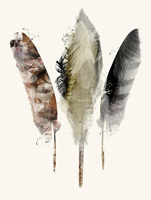 American Eagle Painting - Earth Feathers by Bri B