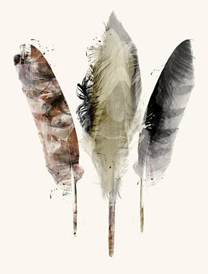 Earth Feathers Art Print by Bri B