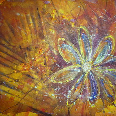 Painting - Earth Flower by Tracy Bonin
