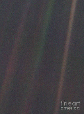Photograph - Earth From Voyager 1 by Science Source