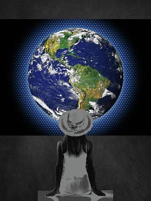 Alexander Calder Digital Art - Earth Girl by Linda Dunn