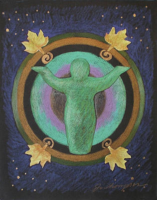 Earth Goddess Mandala Art Print by Jo Thompson