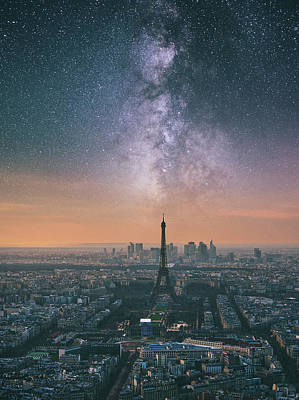 Photograph - Earth Hour In Paris by Darren White