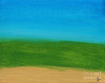 Painting - Earth Land And Sky Abstract by D Hackett