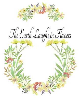 Clip Digital Art - Earth Laughs In Flowers by Colleen Taylor