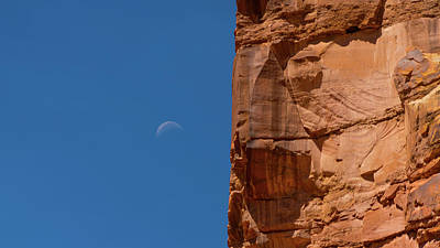 Photograph - Earth Meets Moon Capitol Reef National Park Utah by Lawrence S Richardson Jr