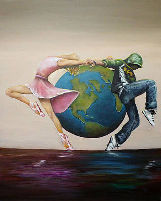 Earth Moves Art Print by Michelle Iglesias