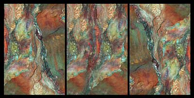 Photograph - Earth Of India. Triptych by Marina Shkolnik