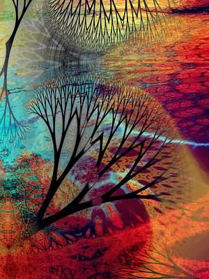 Gaia Digital Art - Earth Song 10 by Helene Kippert