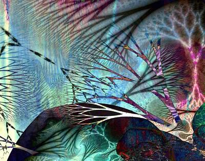 Gaia Digital Art - Earth Song  by Helene Kippert
