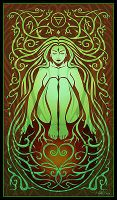 Feminine Digital Art - Earth Spirit by Cristina McAllister