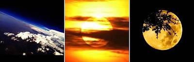 Photograph - Earth Sun Moon by Chris Dunn