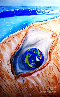 Save The Earth Painting - Earth - The Most Precious Gem  by Edith Van Wyck