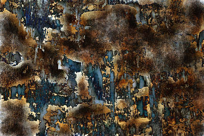 Large Painting - Earth Tone Abstract by Frank Tschakert