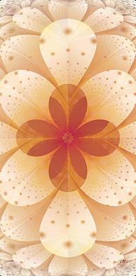 Digital Art - Earth Tone Flower by Lori Grimmett