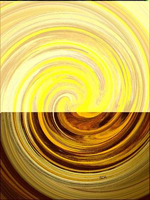 Earth Tones In Motion Number Three Art Print by Scott Haley