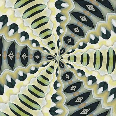 Digital Art - Earth Tones Symmetrical Kaleidoscope by Tracey Harrington-Simpson