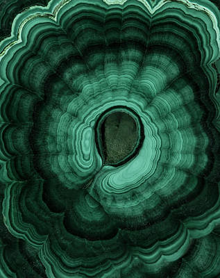 Photograph - Earth Treasures - Malachite by Jaroslaw Blaminsky