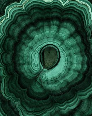 Photograph - Earth Treasures - Malachite by Jaroslaw Blaminsky