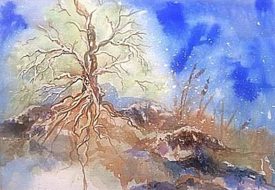 Painting - Earth Tree Sky by Ellen Levinson