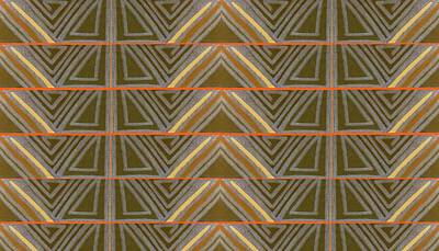 Angelic Drawing - Earth Triangles by Modern Metro Patterns and Textiles