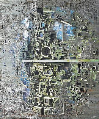 Abstract Digital Mixed Media - Earth Two by Tony Rubino