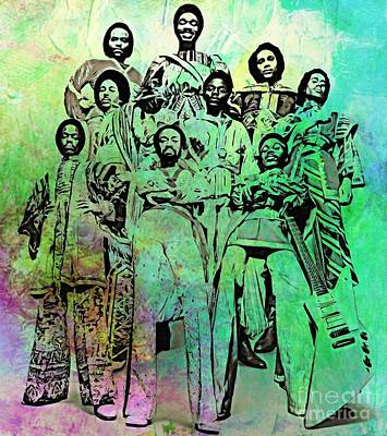 Music Paintings - Earth Wind and Fire by Pd
