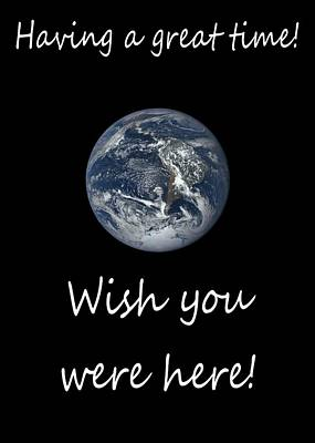 Photograph - Earth Wish You Were Here Vertical by Joseph C Hinson Photography