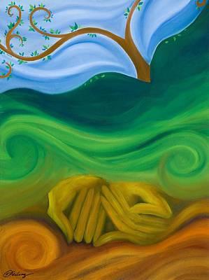 Earth Womb Print by Karen Feiling