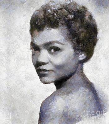 Musicians Royalty Free Images - Eartha Kitt by Sarah Kirk Royalty-Free Image by Sarah Kirk