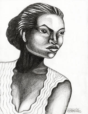 Person Drawing - Eartha Kitt by Genevieve Esson