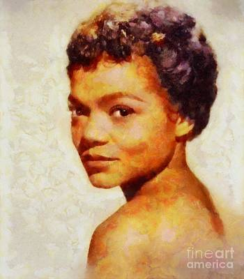 Music Paintings - Eartha Kitt, Music Legend by Esoterica Art Agency
