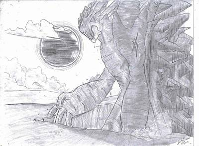 Cyclops Drawing - Earthly Cyclops by Dylan Brown