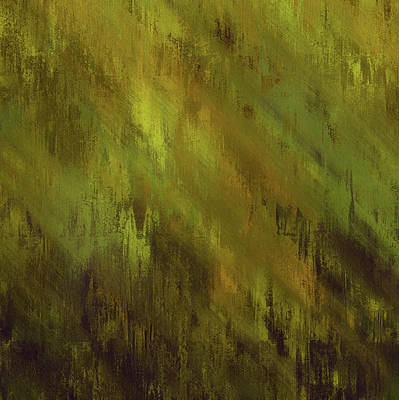 Mixed Media - Earthly Moss Abstract by Georgiana Romanovna